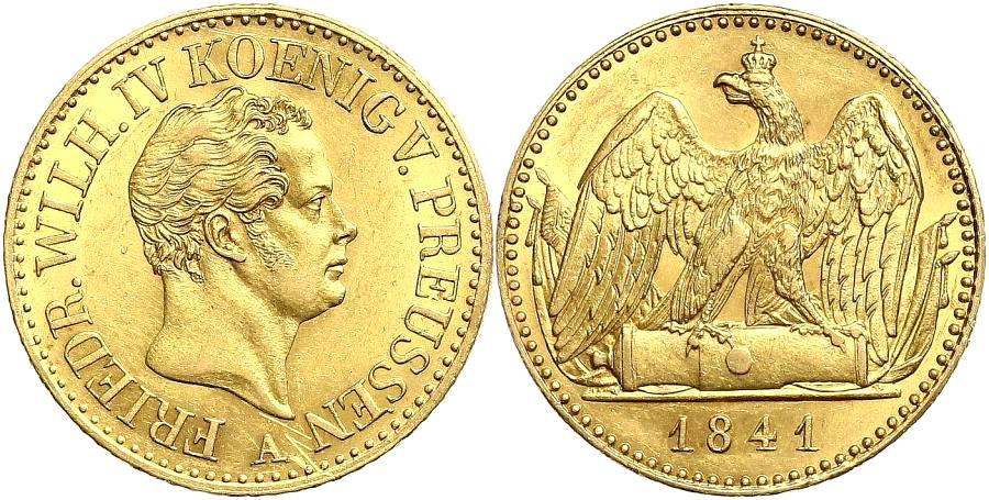 Brandenburg-Preußen König Friedrich Wilhelm IV. von Preußen ( 1840-1861) Doppelter Friedrich d`or 1841 A f.st