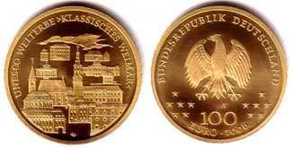 100 Euro 2006 Deutschland 1/2 Unze Goldmün...