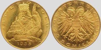 25 Schilling 1935 Österreich Hl. Leopold st