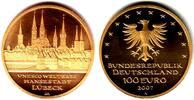 100 Euro 2007 J Deutschland 1/2 Unze Goldmünze - Hansestadt Lübeck st m... 598,00 EUR