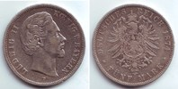 5 Mark 1874 D Bayern König Ludwig II. ss  69,00 EUR  +  6,95 EUR shipping