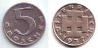5 Groschen 1937 Österreich 5 Groschen - 1. Republik  f.st  149,90 EUR