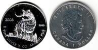 1 Dollar 2006 Kanada 1/2 Silber-Unze - Wolf st  69,00 EUR  +  6,95 EUR shipping