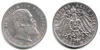 3 Mark 1914 F Württemberg Wilhelm II. (1891 - 1918) f.st  69,90 EUR