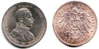 Preussen 5 Mark Wilhelm II. (1888 - 1918) in Uniform