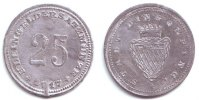 Dingolfing 25 Pfennig Notgeld der Stadt Dingolfing - 25 Pfennig - Prägefehler