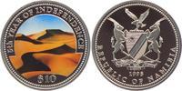 10 Dollar 1995 Namibia 5 Jahre Unabhängigkeit - Sandwüste PP - farbig  27,00 EUR