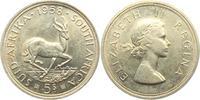 5 Shillings 1958 Südafrika Springbock unc.  19,00 EUR