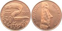 50 Pesos 2007 Chile - Osterinseln Moai - Steinfiguren - koreha toko ari... 17,95 EUR