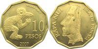 10 Pesos 2007 Chile - Osterinseln Moai - Steinfiguren - Vogelmensch - t... 13,95 EUR