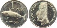 1 Peso 2007 Chile - Osterinseln Moai - Steinfiguren - Fische - su hopu ... 14,95 EUR