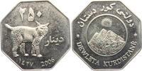 250 Dinars - Medaille 2006 Kurdistan Iynx - Katze - Tiere unc.  19,00 EUR