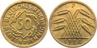 50 Rentenpfennig 1924 F Weimarer Republik 50 Rentenpfennig vz  17,95 EUR