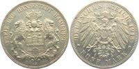 5 Mark 1913 J Hamburg Stadtwappen vz  65,00 EUR
