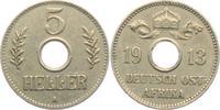 5 Heller 1913 A Deutsch Ostafrika Lochgeld ss-vz  29,00 EUR