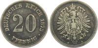 20 Pfennig 1873 A Kaiserreich 20 Pfennig - kleiner Adler ss  9,95 EUR