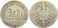 20 Pfennig 1876 A Kaiserreich 20 Pfennig - kleiner Adler s-ss  9,95 EUR