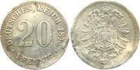 20 Pfennig 1876 B Kaiserreich 20 Pfennig - kleiner Adler s RF  4,00 EUR