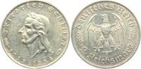2 Reichsmark 1934 F Drittes Reich Friedrich von Schiller vz  54,00 EUR