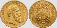 20 Mark 1873 F Württemberg König Karl von Württemberg ss+  379,00 EUR