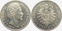 5 Mark 1875 D Bayern König Ludwig II. von Bayern (1864-1886) vz/st  549,00 EUR  +  9,95 EUR shipping