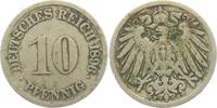 10 Pfennig 1896 F Kaiserreich 10 Pfennig - großer Adler s-ss  1,95 EUR  +  3,95 EUR shipping