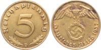 5 Reichspfennig 1937 D Drittes Reich 5 Reichspfennig - mit Hakenkreuz v... 4,95 EUR  +  3,95 EUR shipping