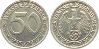 50 Pfennig 1939 G Drittes Reich Kursmünze vz+  69,00 EUR  +  6,95 EUR shipping