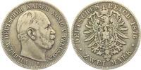 2 Mark 1876 B Preussen Wilhelm I. zu Preussen (1861 - 1888) s-ss  14,00 EUR  +  6,95 EUR shipping