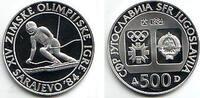 500 Dinar 1984 Jugoslawien Olympische Spiele 1984 in Sarajevo - Slalom PP  19,00 EUR  +  6,95 EUR shipping