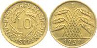 10 Reichspfennig 1932 D Weimarer Republik 10 Reichspfennig - Ährenbünde... 4,95 EUR  zzgl. 2,95 EUR Versand