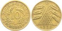 10 Reichspfennig 1929 D Weimarer Republik 10 Reichspfennig - Ährenbünde... 1,95 EUR  zzgl. 2,95 EUR Versand