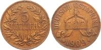5 Heller 1909 J Deutsch Ostafrika  vz - rauher Schrötling  34,95 EUR  zzgl. 4,95 EUR Versand