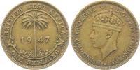 1 Shilling 1947 British Westafrika George VI. (1936 - 1952) ss-vz  9,95 EUR  zzgl. 2,95 EUR Versand