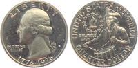 1/4 Dollar 1976 S USA Trommler - Washington (1932 - 1998) st  2,95 EUR  zzgl. 2,95 EUR Versand
