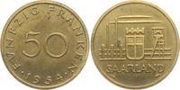 50 Franken 1954qvz Saarland Industrielandschaft vz min. RF  24,95 EUR  zzgl. 4,95 EUR Versand