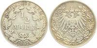 1/2 Mark 1907 D Kaiserreich 1/2 Mark ss  2,95 EUR  zzgl. 2,95 EUR Versand
