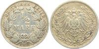 1/2 Mark 1907 A Kaiserreich 1/2 Mark ss  2,95 EUR  zzgl. 2,95 EUR Versand