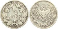1/2 Mark 1907 G Kaiserreich 1/2 Mark ss  4,95 EUR  zzgl. 2,95 EUR Versand