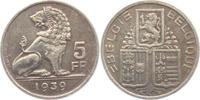 5 Franks 1939 Belgien Leopold III. (1934 - 1951) ss-vz  25,95 EUR  zzgl. 4,95 EUR Versand