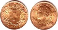 20 Franken 1935 LB Schweiz Vrenerli prägefrisch  239,00 EUR  zzgl. 6,95 EUR Versand