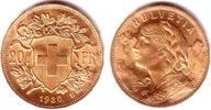 20 Franken 1930 Schweiz Vrenerli prägefrisch  235,00 EUR  zzgl. 6,95 EUR Versand
