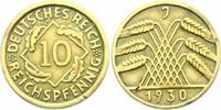 10 Reichspfennig 1930 J Weimarer Republik 10 Reichspfennig - Ährenbünde... 7,95 EUR  zzgl. 2,95 EUR Versand