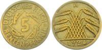 5 Rentenpfennig 1924 A Weimarer Republik 5 Rentenpfennig ss  1,95 EUR  +  3,95 EUR shipping