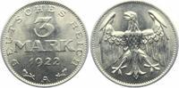 3 mark 1922 A Weimarer Republik 3 Mark vz  2,95 EUR  +  3,95 EUR shipping