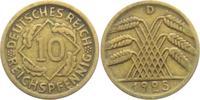 10 Reichspfennig 1925 D Weimarer Republik 10 Reichspfennig - Ährenbünde... 4,95 EUR  +  3,95 EUR shipping