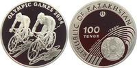 100 Tenge 2004 Kasachstan Olympische Spiele 2004 in Athen - Radrennen PP  27,95 EUR  +  6,95 EUR shipping
