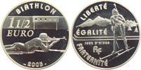 1 1/2 Euro 2005 Frankreich Olympische Spiele 2004 in Athen - Biathlon PP  24,95 EUR  +  6,95 EUR shipping
