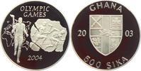 500 Sika 2003 Ghana Olympische Spiele 2004 in Athen - Fackellauf PP  24,95 EUR  +  6,95 EUR shipping