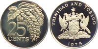 25 Cents 1975 Trinidad und Tobago Palmwedel PP  8,95 EUR  +  3,95 EUR shipping